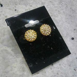 🎀 gold diamond earrings